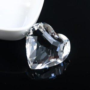 45 mm forma de corazón Crystal Prismas Piezas de araña Parts Clear Colgantes SunCatcher para Windows Decor DIY Inicio Decoración de la boda Accesorios H JLLLHSM