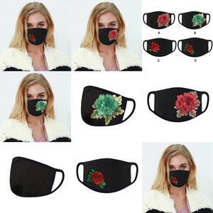 Maschera nuovo riutilizzabile 4 stili a bocca ricamata panno anti-polvere viso pm2.5 lavabile da corsa a cavallo maschere protettive all'aperto in stz