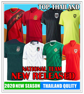2021 Irlanda del Norte Escocia Switzerland Gales Soccer Jersey Austria Muller Hungría Italia Suecia Bélgica España Ruso Fútbol checo CALIENTE