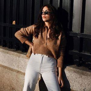 2021 New Spring Summer Fashion Classic Brand Design Versatile Navy Collar Sweater Easy Women Wearing Pullover Sweater
