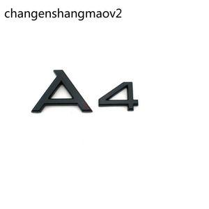 "Gloss Black Glossy Black ""A 4 A4L"" Tronco ABS Transporte Trasero Número de letras Pegatinas Emblema Emblema Pegatina para Audi A4 A4L"