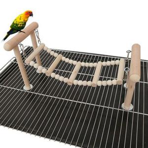 Parrot Perches de bois Stand Toys Swing Swing Escalade Échelle Toy Perokeet Cockatiel Lovebirds Finches Fournitures d'oiseau C42