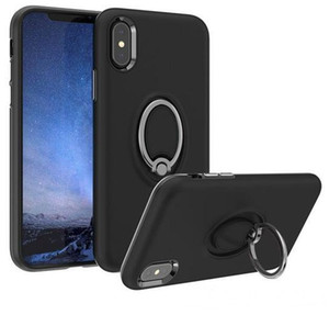 Phone Case for IPhone 11 Pro Max X 7 8 6 6s Plus with Car Suction 360°rotating Ring Bracket Drop Protection Phone Cover Factory Outlet