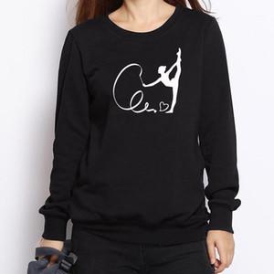 Ginnasta Felpe stampata Donna Inverno moda Casual Cotton Felpe con cappuccio Gymnasty Girl Sporting Abbigliamento Tops1