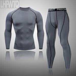 New Hombres Conjuntos de ropa interior térmica para hombres Suje de compresión Secado rápido Termo Ropa interior Ropa para hombres Long Johns Ropa 201106