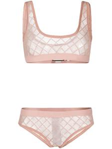 Luxuxspitze-Bikini Designermarken Push Up Frauen-BH-Set im Freien Strand Innenreizvolle Perspektive Top-Qualität Unterwäsche-Sets