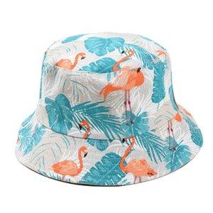 Unisex Lindo impresión Reversible Algodón Cubo de Algodón Sombrero Multicolor Verano Pescador Cap 28GD