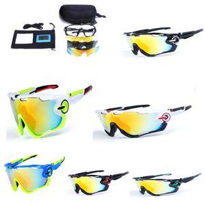 Fashion Polarized Sports Unisex Sunglasses Road Cycling Glasses Mountain Bike Bicycle Riding Protection Goggles Eyewear 3 Exchange Lens