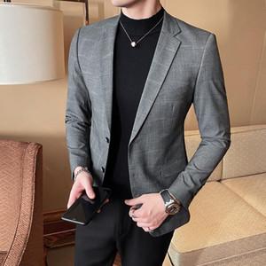 2020 Brand Blazer Jacket Men Slim Suit Jacket Korean Business Party Casual Blazers Men Suits Wedding Stage Dress Coat Clothing