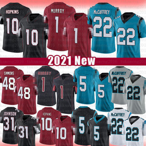 22 Christian McCaffrey Teddy Bridgewater Jersey di calcio 1 Kyler Murray 11 Larry Fitzgerald 10 Deandure Hopkins Isaia Simmons David Johnson