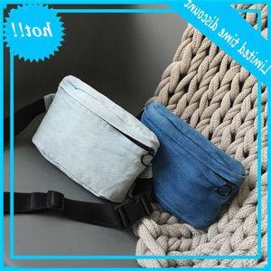 2020 creative denim women's shoulder origin canvas simple fashion small waist bag
