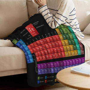 Periodic Table Blanket Digital Printing Chemistry Periodic Table Of Elements Soft Warm Microfiber Flannel Blanket TB Sale