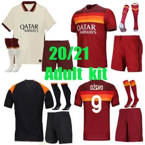 Jersey Jersey adulto 20 21 Roma de Rossi Dzeko Zaniolo Totti Perotti Pedro Camisa de Futebol 2020 2021 Uniformes Maillot Terceiro Pastore