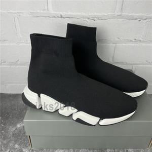الرجال النساء عارضة الأحذية جورب الأحذية سرعة 2.0 الرياضة محبوك التمدد أحذية رياضية سرعة المدرب جورب سباق الراحة أحذية سوداء أوريو مع صندوق