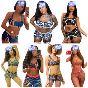 ethika boxers ethika women Beachwear Bikini women 2 piece ethika set Vest Tank Bras Swimsuit Beach Playsuit Shark Plaid Swim Suits
