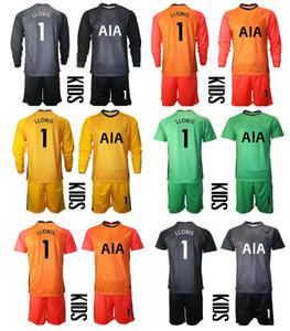 2021 Temporada Spurs portero de manga corta larga camisa de futbol personalizado kit de niños conjuntos de uniforme 1 Lloris Football Boys Formación de fútbol Jersey