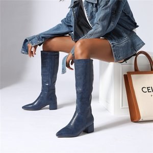 Hot Sale FEDONAS Euro Style Plus Size Female High Heels Fashion Party Night Club Shoes Woman Winter Warm Women Knee High Western Boots