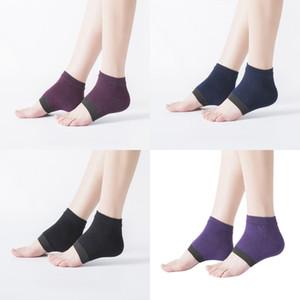 Katı Renk Çorap Basınç Çatlak Önleme Aşınmaya Dayanıklı Moda Aksesuarlar Kadın Erkek Çorap Spor Yoga Ayak Bakımı 3 4qt K2