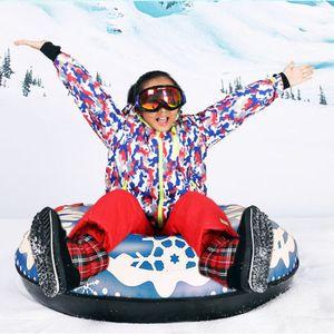 120cm Panneau de ski flotté hiver PVC Cercle de ski PVC avec poignée enfants adulte en plein air tube de ski accessoires de ski 2020 q0111