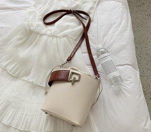 Designer-Elegant Female Stone pattern Tote Bucket bag 2020 New Quality PU leather Women s Designer Handbag Lock Shoulder Messenger