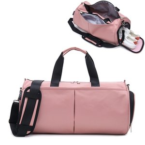 Crocosport Woman Gym Yoga Bags Women Fitness Sports Black Bag Customized Portable Travel Training Bag With Shoes Compartment Q1201