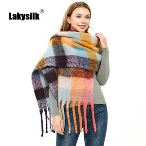Autumn Winter New Plaid Scarf Women Fashion Female Tassel Long Scarves Warm Thicken Cashmere Shawl Scarves Large Blanket C1121