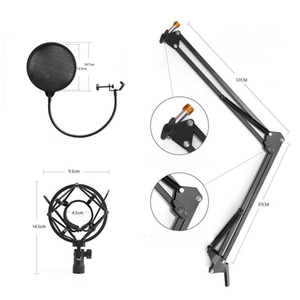 NB-35 Desktop Table Tripod Microphone MIC Stand Holder with Clip Microphone Stand Holder for Mounting on PC Laptop Notebook