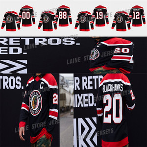Chicago Blackhawks Jersey 2020-21 Retro retro 19 Jonathan Toews 88 Patrick Kane 2 Keith 00 Clark Griswold 12 Alex Debrincat Hockey Jerseys