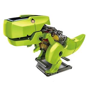 Солнечные игрушки Diy Собранный модель Динозавр Robot Technology динозавр Робот модели Дети Творческие подарки