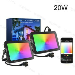 Proiettori RGB Ultra SMD 20W Outdoor IP65 Impermeabile 110V 220V con APP Smart Bluetooth per DJ Disco Disco Party Bar DHL