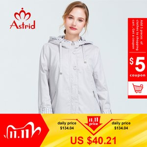 Astrid 2019 Autumn new arrival woman plus size short trench coat for women with a hood warm thin coat with zipper AS-9013 A1113