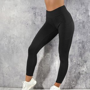 High waist push up leggings pockets slim fit leggings gym casual fashion Drop Shipping Good Quality