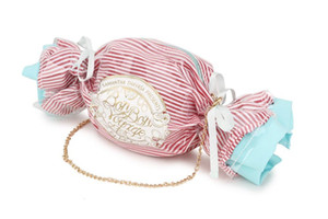 Bolsa de mão em pvc com design de doces، bolsa Ombro feminina pvc com enfeite carteiro e mão tipo mensageiro