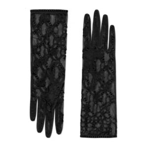 women long Bride Bridal Crystals Wedding Accessories Lace Gloves for Brides five Fingerless Wrist Leng