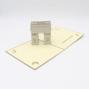 3d Laser Cut Handmade Beautiful Retro Triumphal Arch Paper Invitation Greeting Cards Postcard Business Creative Gift Souvenir jllhxP