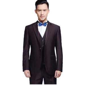 Custom Made Men Suits Losse Fit Groom Mens Suit For Wedding Tuxedos Attractive Men Formal Ocasion Wear (Pants+Jacket+Vest)