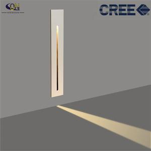 Настенная лампа Водонепроницаемый IP65 3W CREE LED Certife Light Утопленные лампы Лестницы Step Stairway Collway Угловой Пол Освещение PIR Датчик движения