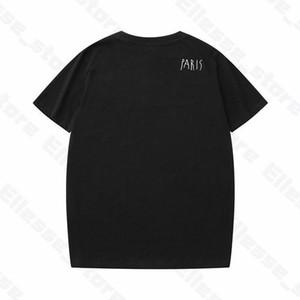 20SS cristiana para hombre de las camisetas para hombre Paris hombre de la moda informal camiseta de alta calidad de Calle Pantalones cortos de la manga vestir camisetas