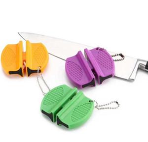Couteau à couse en acier inoxydable tige de tige d'acier inoxydable aiguiseur portable portable portable domestique tungsten rapide tagnapeur de céramique aiguiseur DHE3859