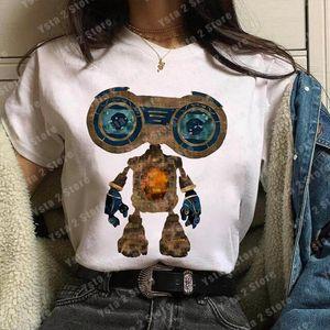 Jingle jangle uma viagem de natal camiseta mulheres novo filme gráfico camiseta harajuku ullzang bonito desenho animado robô tops feminino