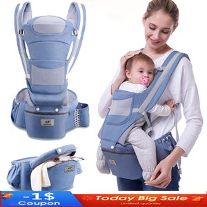 New 0-48 Month Ergonomic Baby Carrier Infant Baby Hipseat Carrier 3 In 1 Front Facing Ergonomic Kangaroo Baby Wrap Sling J1203