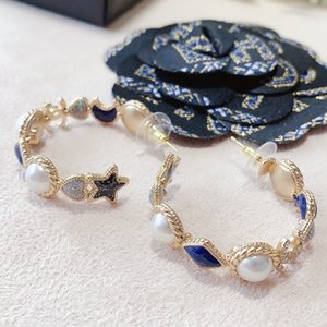 Girls High Quality Fashion wedding 316L titanium steel rose gold big diamond letter drop earrings dangle for Women lady birthday gift M373