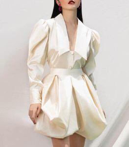 Women Winter Style Sexy Long Sleeve Pleated White Two Piece Bandage Set 2020 Celebrity Designer Fashion High Street Women's Set
