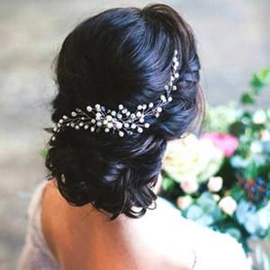 Wedding Hair Accessories Silver Pearl Hair Comb Elegant Women Headdress Make up Party Headwear Bridal Hair Jewelry Headpieces Gift AL7833