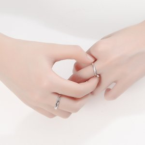 925 Sterling Silver Open Ring Korean Version of Live Silver Ring Interwoven Love Lovers Ring Silver Jewelry Wholesale