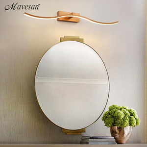 Modern New Design Bathroom Mirror LED Wall Lights Gold Frame Luminaires Sconce LED Wall Lamps L 80 cm Dressing Table For 90-260V