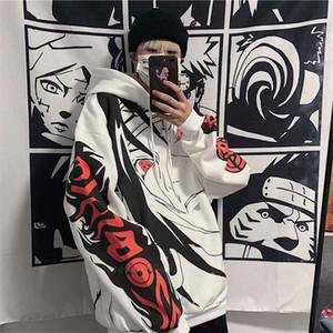 2020 Autumn Winter Anime Naruto Uchiha Itachi Sharingan Print Hoodies Casual Thicken Warm Pullover Hooded Sweatshirt Women Men LJ201120