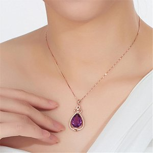 New Design Crystal Heart Pendant Necklace for Women Top Quality Hot Selling Necklaces Gift Valentines Day Gift Delicate