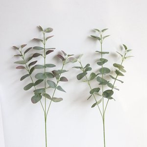 2019 new Artificial Silver Dollar Eucalyptus Leaf For silk Flowers Household Store Dest Rustic Decoration Clover Plant