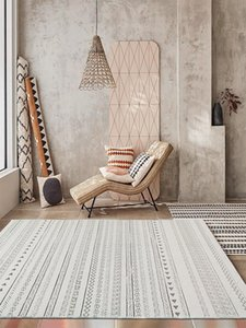 Nordic Marruecos Alfombras y alfombras para sala de estar Shaggy Fluffy Bedroom Brown Anti-Skid Hallway Mat Ethnic Vintage Alfombras